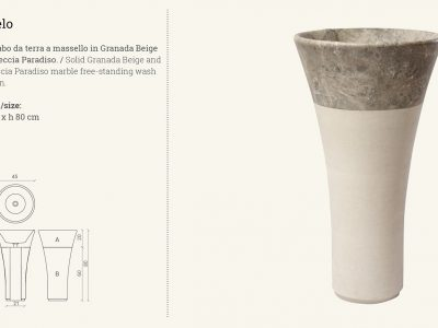 free-standing wash basin stelo - marble beige crema