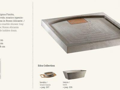 piatto doccia in marmo edra gray