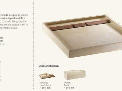 piatto doccia in marmo quadra beige chocolate