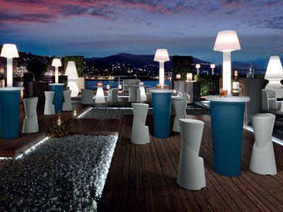 tavolo mai tai table - party cocktails - outdoor