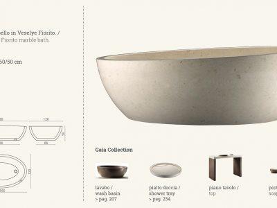 vasca in marmo beige gaia