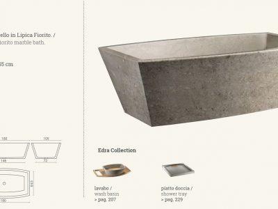 vasca in marmo gray grigio edra
