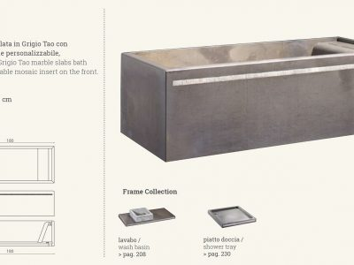 vasca in marmo gray grigio frame